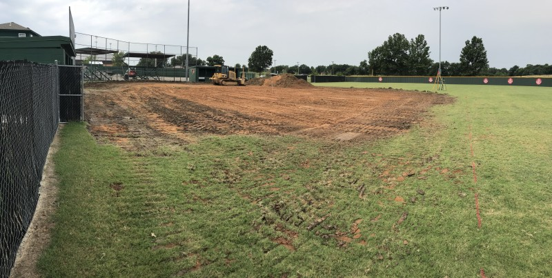 Beginning stage of Verdigris Softball Field